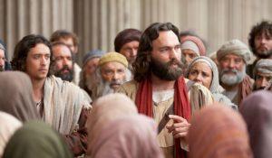 Pietari opettamassa ihmisiä