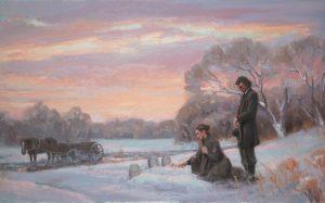Mormonipariskunta suremassa haudoilla