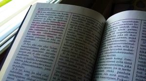 Mormonin kirja, jossa on merkintöjä